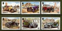 JERSEY, 1988, Mint Never Hinged Stamp(s), Vintage Cars, 457-462, M4302 - Jersey
