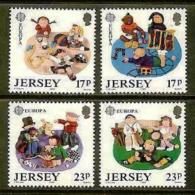 JERSEY, 1988, Mint Never Hinged Stamp(s), Europa, Children Toys, 476-479, M4303 - Jersey