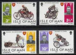ISLE OF MAN, 1974, Mint Never Hinged Stamp(s), Trophy Motor Cycle, 40-43, M4807 - Isle Of Man