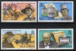 ISLE OF MAN, 1974, Mint Never Hinged Stamp(s), Sir Winston Churchill, 48-51, M4809 - Isle Of Man