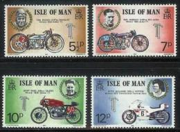 ISLE OF MAN, 1975, Mint Never Hinged Stamp(s), Trophy Motor Cycle, 60-63, M4811 - Isle Of Man