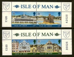 ISLE OF MAN, 1987, Mint Never Hinged Stamp(s), Europa 2 Strips, 335-338, M4880 - Isle Of Man