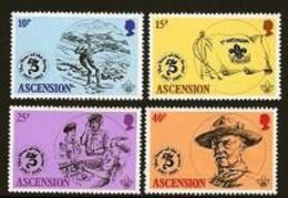 ASCENSION, 1982, Mint Never Hinged Stamp(s), Scout Crossing, 306-309, M2072 - Ascension