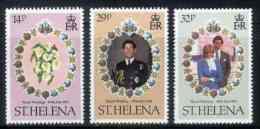 ST. HELENA, 1981, Mint Never Hinged Stamp(s), Royal Wedding Diana & Charles, 342-344, M7319 - Sint-Helena