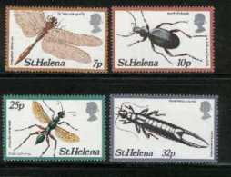 ST. HELENA, 1981, Mint Never Hinged Stamp(s), Insects, 353-356, M2035 - Sint-Helena