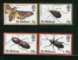 ST. HELENA, 1983, Mint Never Hinged Stamp(s), Insects, 375-378, M2039 - Sint-Helena