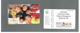 EMIRATI ARABI UNITI (UNITED ARAB EMIRATES) -1998 DUBAI SHOPPING FESTIVAL: CHILDREN - USED -  RIF.  10435 - United Arab Emirates