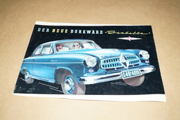 Carl F.W.Borgward Isabella,ancien Prospectus Publicitaire Original,60 Cm. / 42 Cm. - Cars
