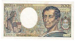 France 200 Francs 1994 Last Year - 200 F 1981-1994 ''Montesquieu''