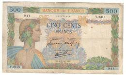 France 500 Francs 06/02/1941 - 1871-1952 Gedurende De XXste In Omloop