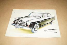 Carl F.W.Borgward TS,ancien Prospectus Publicitaire Original, 29,5 Cm. / 20,5 Cm. - Cars