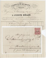 Thann Fabrique De Draps 7.9.1875 Pour St.Amarin - Alsace-Lorraine