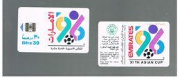 EMIRATI ARABI UNITI (UNITED ARAB EMIRATES)-1996 XI ASIAN CUP FOOTBALL (SILVER CHIP) - USED - RIF.  10437 - United Arab Emirates