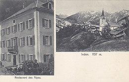Inden - Restaurant Des Alpes Mit Kutsche            (P-131-50204) - VS Valais