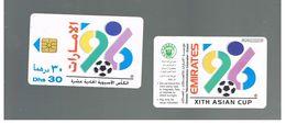 EMIRATI ARABI UNITI (UNITED ARAB EMIRATES)  -1996 XI ASIAN CUP FOOTBALL (GOLD CHIP) - USED - RIF.  10437 - United Arab Emirates