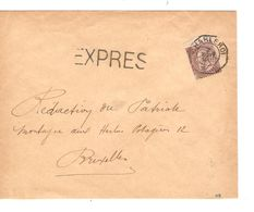 TP 49 S/L.Exprès (Express) C.T.T.Charleroi 2/11/1891 V.BXL C.d'arrivée AP2011 - 1884-1891 Leopold II.