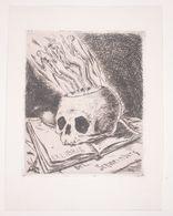 Ex-libris Moderne XXème Illustré -  Allemagne - Corps Sortant D'une Tête De Mort - Dr. L. SCHWEINBURG - Ex-libris