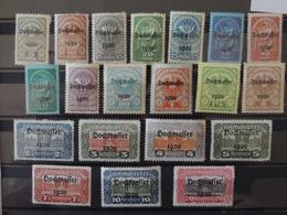 Osterreich - Autriche Hochwaffer 1920 - N° 232 - 251 * - Ungebraucht