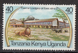 KENYA, UGANDA, TANZANIA 1975 Sc. 300 Seronera Wild Life Lodge. MNH Leone Rinoceronte - Rhinozerosse