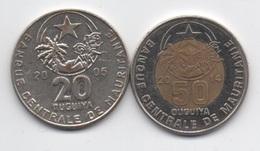 Mauritanie : Lot De 2 Pièces Dont 1 BIMETAL : 20 Ouguiya 2005 & 50 Ouguiya 2014 - Mauritania