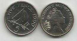 Guernsey 5 Pence 1990. UNC - Guernsey