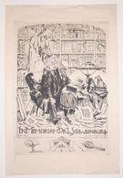 Ex-libris Moderne XXème Illustré -  Allemagne - Le Bibliophile Et La Mort - In Memoriam Dr. L. SCHWEINBURG - Ex-libris