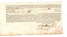 Document Historique De La Ville De Gand(Gend-Gendt) 18°  Siecle AP2012 - 1714-1794 (Pays-Bas Autrichiens)