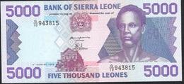 SIERRA LEONE P21a 5000 LEONES 1993   UNC. - Sierra Leone