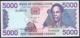 SIERRA LEONE P21b 5000 LEONES 1996   UNC. - Sierra Leone