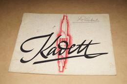 RARE Ancien Catalogue Opel Kadett,Général Motors,22,5 Cm. Sur 17,5 Cm. Original - Cars