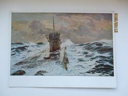 GERMAN NAZI ERA ART , HDK 173 , U-BOOT , SUBMARINE , 0 - Paintings