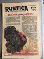 Rustica Journal De La Campagne 19 Decembre 1943 Le Dindon Noir De Sologne - Livres, BD, Revues