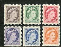 CANADA, 1954, Mint Never Hinged Stamp(s), QE II, Michel 290-295, M5427 - 1952-.... Reign Of Elizabeth II