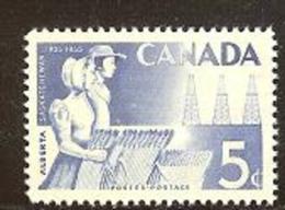 CANADA, 1955, Mint Never Hinged Stamp(s), Anniversary Alberta, Michel 304, M5433 - 1952-.... Reign Of Elizabeth II