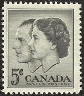 CANADA, 1957, Mint Never Hinged Stamp(s), QE II & Duke Of Edinburgh, Michel 321, M5454 - 1952-.... Reign Of Elizabeth II