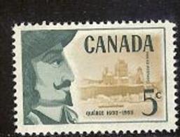 CANADA, 1958, Mint Never Hinged Stamp(s), Samuel De Champlain,  Michel 326, M5464 - 1952-.... Reign Of Elizabeth II