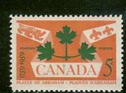 CANADA, 1959, Mint Never Hinged Stamp(s), Battle Of Quebec,  Michel 335, M5482 - 1952-.... Reign Of Elizabeth II