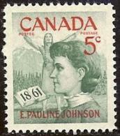 CANADA, 1961, Mint Never Hinged Stamp(s), Pauline Johnson,  Michel 339, M5490 - 1952-.... Reign Of Elizabeth II