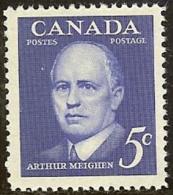 CANADA, 1961, Mint Never Hinged Stamp(s), Arthus Meighen,  Michel 340, M5492 - 1952-.... Reign Of Elizabeth II