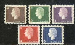 CANADA, 1962, Mint Never Hinged Stamp(s), QE II,  Michel 348-352, M5506 - 1952-.... Reign Of Elizabeth II