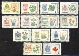 CANADA, 1964, Mint Never Hinged Stamp(s), Provincial Badges,  Michel 362-374, M5523 - 1952-.... Reign Of Elizabeth II