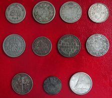 Lot 11 Monnaies En Argent - Petits Modules Fin XIXe / Début XXe - Poids Total 23g - Sonstige Münzen