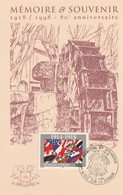 CPSM 84  L'ISLE SUR LA SORGUE   MEMOIRE ET SOUVENIR 1918/98 80 ème ANNIVERSAIRE TIMBRE COMMEMORATIF - L'Isle Sur Sorgue
