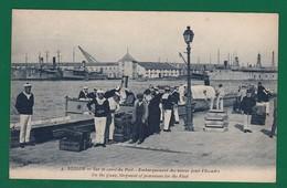 +1142) TOULON MARINE Embarquement Des Vivres Pour L Escadre : Très Très Bon état : - Warships
