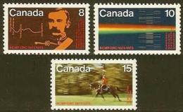 CANADA, 1973, Mint Never Hinged Stamp(s), Royal Canadian Police,  Michel 521-523, M5613 - 1952-.... Reign Of Elizabeth II