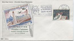 PHILATEC (Yv. N° 1403) 1er Jour; Flamme  SECAP Concordante  PARIS / 1963 - 1960-1969
