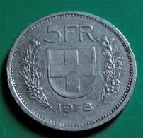5 Francs Suisse 1978 Bon état - Suisse