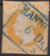 """Mi-Nr. 16, Eng Geschnitten, Klar """"Hannover"""", O - Hannover"""
