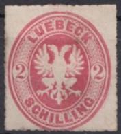 Mi-Nr. 10A, Falz, * - Luebeck