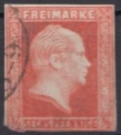 Mi-Nr. 13, Eckstempel, Eckfehler, O - Preussen